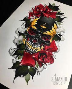 Свободен ,ищет хозяина ) Сделаю только на бедро #tattoo #tattoos #tattooskull #skull #rose #tattoorose #video #copic #copicdraw #copicmarker #tattooed #lamp #racoon #flowers #girltattoo #art #snow #artwork #sleeve #neotraditional #neotrad #neotradsub #ink #inked #mazurtattoo #brightinktattoostudio