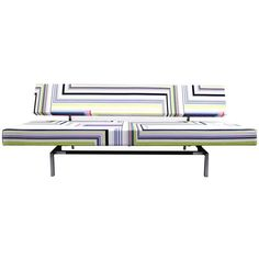 Martin Visser Sleeper Sofa with Abstract Malachite Fabric by Christian Lacroix   From a unique collection of antique and modern sofas at https://www.1stdibs.com/furniture/seating/sofas/