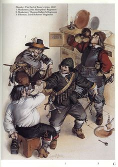 Plunder: The Earl of Essex's Army, 1642. English Civil War.