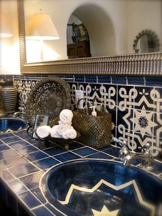 Mexican tile bath -