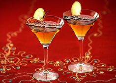 Candied bacon blends with vodka, brandy, amaretto and maple syrup, for a lip-smacking martini.