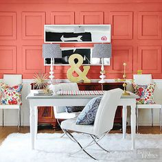 Flip through our DIY ideas for adding color to any room by painting tired woodwork -- including window trim, door frames, and more. Choose from bright palettes, jewel tones, and rich neutrals to give new life to any room's decor.