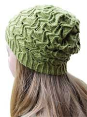Chutes and Ladders Knit Pattern from Anniescatalog.com -- This is a challenging but fun pattern to knit and a great hat to wear!