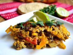Mexican Bell Pepper Casserole - A tasty casserole that is gluten and dairy free and feeds a crowd.  You can add chicken or ground turkey or leave it as a vegetarian meal.  www.lifehealthfullylived.wordpress.com