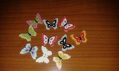 10 bottoni legno farfalle colorate cucito creativo hobby di DanidecoupageStore su Etsy