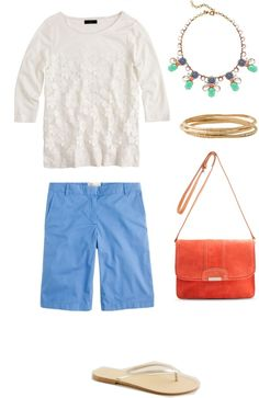 """""""WTWW: What to Wear With Bermuda Shorts"""" by kimkperez on Polyvore"""