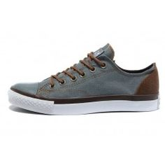 Converse All Star Vampire Diaries Gray & Brown Lows Cheap Converse Shoes, Converse All Star, Men's Shoes, Vampire Diaries, Star Wars, Nike, Chuck Taylor Sneakers, Brown And Grey, Gray