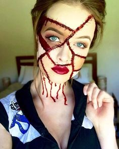 21 Scary Halloween Makeup Ideas ( It's PRETTY but NOT scary!!!!!!!!!!!) - L.Shack