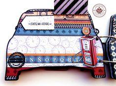 Te traemos un increíble álbum de la colección Entre Cuates, con hermosos detalles y algunos pintados a mano, descubrelo aquí http://crea-lo-inimaginable.blogspot.mx/2016/01/en-auto-pasear.html #texturarte #scrapbook #scrapbooking #manualidades #crafting