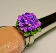 [Tuto Fimo] Bague Bouquet de lilas