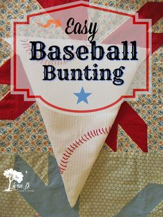 Creating some handcrafted baseball bunting is perfect for a child's room, birthday, or a tailgate party. Here's how...