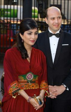 Prince Muhammad Ali of Egypt and Princess Noal of Egypt arrive for the Bernadotte Art Awards 2014 at the Grand Hotel in Stockholm, 02.06.2014.