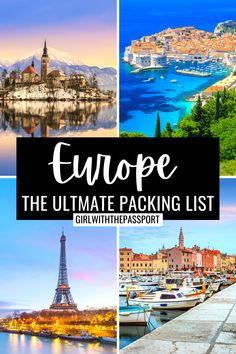 Europe Travel | Europe Outfits | What to Pack for Europe | What to Wear in Europe | Europe Aesthetic | Europe Packing List | Europe Guide | Europe Style Guide | Europe Travel Essentials | Europe Travel Outfits | Europe Travel Outfits Summer | Europe travel Outfits Fall | Europe Travel Outfits Winter | Europe Travel Outfits Spring #EuropeTravel #EuropeOutfits #EuropePackingList #EuropeGuide Ultimate Packing List, Packing Tips For Vacation, Packing For Europe, Europe Europe, Europe Style, Packing Lists, Travel Europe, European Travel, Solo Travel