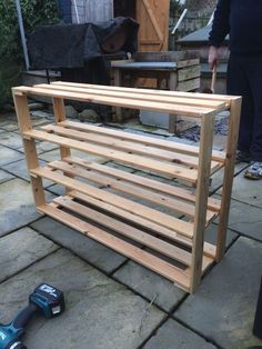 Wov Shoe Rack DIY Schuhregal Ideen mit kleinem Budget Cleaning and Caring For Your Floor I Shoe Rack Out Of Pallets, Wood Shoe Rack, Diy Shoe Rack, Shoe Racks, Shoe Rack Made Out Of Wood, Shoe Storage, Shoe Rack Pallet, Diy Shoe Shelf, Diy Rack