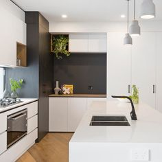 Kitchen Reno, Kitchen Cabinets, Charcoal Kitchen, Timber Kitchen, Black Kitchens, Building Design, Cnc, Home And Garden, Construction