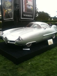 Old Alfa Romeo concept car from Pebble Beach  #alfa #alfaromeo #italiancars @automobiliahq