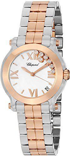 Chopard Happy Sport II Ladies Two Tone Diamond Watch 278488-9001 -