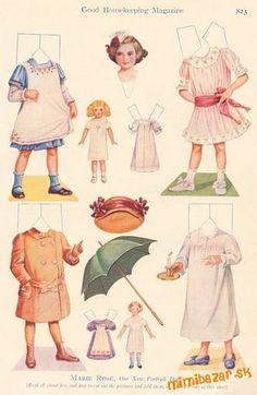 Papierové bábiky-panenky k vystřihávání :-)