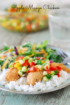 Apple Mango Chicken Recipe