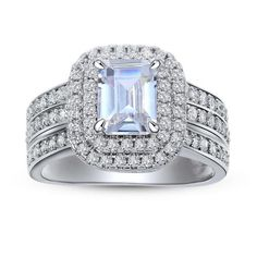 1.8 CT Solid 925 Sterling Silver Women Wedding Ring Jewelry Free Shipping