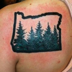 Oregon Tattoo images - Google Search. Maybe this, but smaller.
