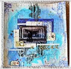 Scrappiness: Mixed Media Layout, Tutorial.