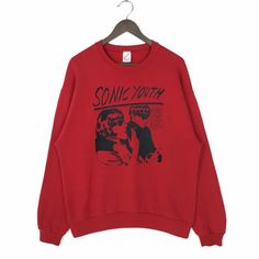 Excited to share this item from my shop: Vintage Sonic Youth Sweatshirt Sonic Youth Goo! Sweatshirt Crewneck Sonic Youth Goo 1990 by DGC Records Sonic Youth Vintage Sweatshirt Sweater Hoodie, Crew Neck Sweatshirt, Cool Shirts For Girls, Vintage Nike Sweatshirt, Vintage Band Tees, Nike Pullover, Old Shirts, Sports Jacket, Personalized T Shirts