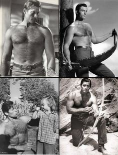 Clint Walker in the TV western Cheyenne, broadcast on ABC from 1955 to 1963 Hollywood Stars, Classic Hollywood, Clint Walker Actor, Cheyenne Bodie, Superman Family, Tv Westerns, Hommes Sexy, Vintage Men, Retro Men