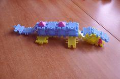 Krokodyl z klocków Click
