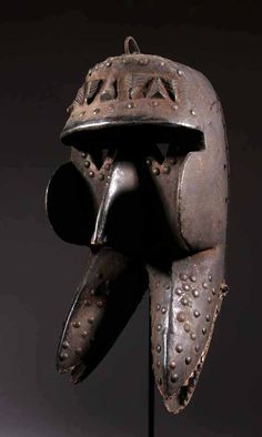 Africa | Mask from the Kran people, living in the southwest region of the Ivory Coast and in southern Liberia. | Wood and nails