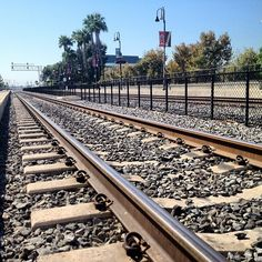 #california #anaheim #amtrak #metrolink #station #train #sunny #tracks #railroad #hot (Taken with Instagram at Anaheim Amtrak / Metrolink Station (ANA))