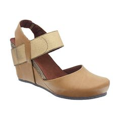 249cbe77b92b Pierre Dumas Tan Distressed Enya Wedge ( 22) ❤ liked on Polyvore featuring  shoes