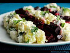 Kolorowa Kuchnia Magdy: Sałatka śledziowa z buraczkami i gruszką