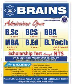 Admission in Brains Peshawar