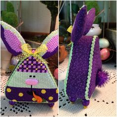Laura F. stitched this cute bunny stand up.