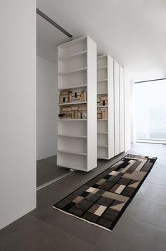 Bibliothèque mitoyenne pivotante VISTA | Bibliothèque by ALBED by Delmonte