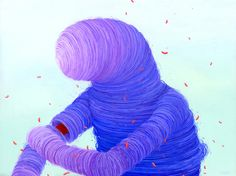 brendan monroe illustration blob colour surreal purple creature