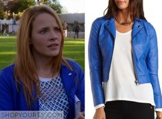 Switched at Birth: Season 4 Episode 4 Daphne's Blue Leather Jacket