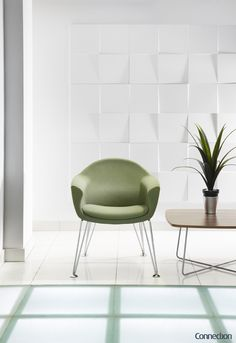 Designed by Craig Jones Design, Mortimer is a stylish one piece moulded foam chair from Connection, with a formal yet relaxing seating position.