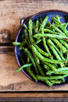 """Roasted Ginger Sesame Green Beans"""