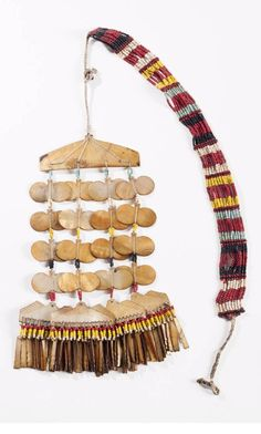 Philippines -  Northern Luzon | Sipattal necklace from the Gadang; shell, glass beads and natural fiber | Est. 1'000 - 1'200€ ~ (Feb '14)