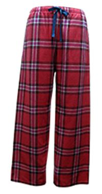 """Boxercraft Red and Blue Plaid """"Love"""" Flannel Pajama Pant $28 - SHOP http://www.thepajamacompany.com/store/product.php?productid=18776"""