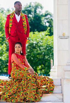 ghana wedding dress, kente style men and women fashion - Wedding And Engagement