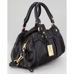 MARC by Marc Jacobs Classic Q Baby Groovee Satchel Bag, Black ($378) ❤ liked on Polyvore