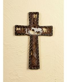 Praying Cowboy Cross Wall Art- My daughter Tanner just bought me this one, LOVE IT !!