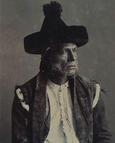 "Portrait of gypsy Chorrojumo, self-styled ""Prince of the Gypsies"", whose real name was Mariano Fernandez. by José García Ayolo (1836-1900)"