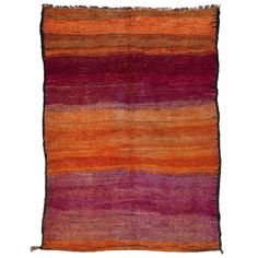 Vintage Rehamna Moroccan Rug | From a unique collection of antique and modern moroccan and north african rugs at https://www.1stdibs.com/furniture/rugs-carpets/moroccan-rugs/