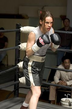 "Best Actress, 2004: Hilary Swank as Maggie Fitzgerald in ""Million Dollar Baby"""