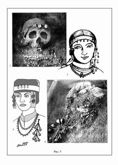 Grave find - headwear 10th/11th C - with adornment in place on the skull