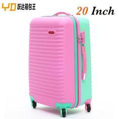 2015 boa qualidade Hardside bagagem mulheres sacos de viagem bagagem de preço de cores ABS carrinho de bagagem mala 807